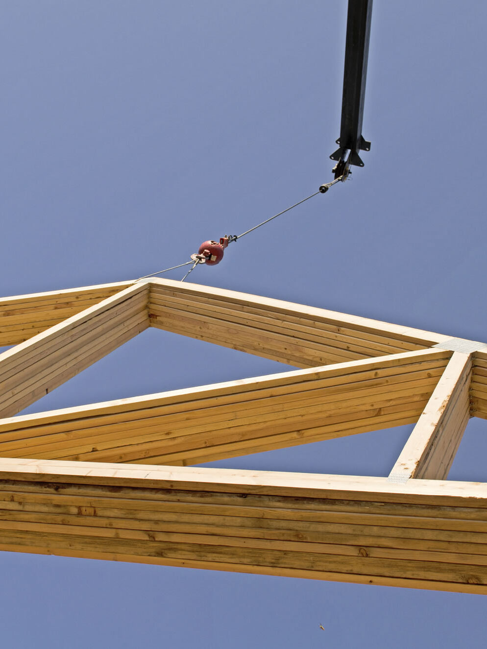 Delivering roof trusses